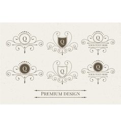 Set of luxury logo and monogram templates vector image
