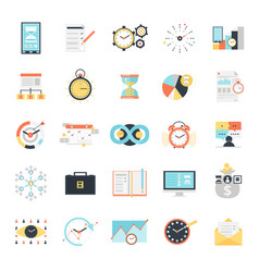 time management icons set vector image