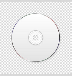 3d realistic white cd dvd closeup isolated vector