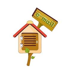 A post box vector image