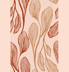 Abstract botanical seamless pattern in light vector