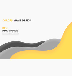 Abstract tech yellow line overlap design on white vector