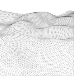 Abstract wire-frame grid vector