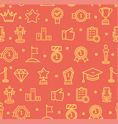 award signs seamless pattern background vector image