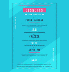Bakery menu design template vector