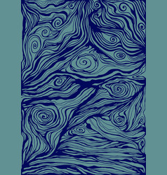 blue and dark blue decorative doodles waves vector image
