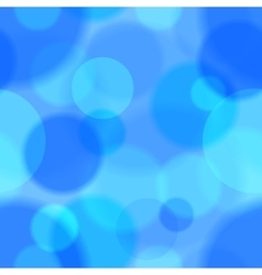 Blue bokeh abstract seamless pattern vector