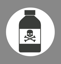 Bottle potion danger laboratory chemistry dark vector