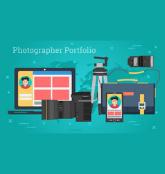 business banner - personal photo portfolio vector image