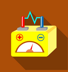 Car battery icon flat style vector