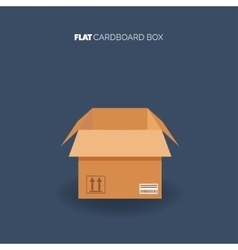 Carton cardboard box Delivery and packaging vector