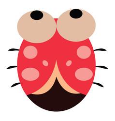 Cartoon cute little ladybug or color vector