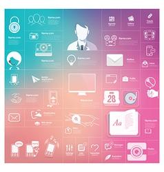 Communication web design elements vector