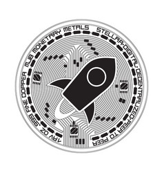 Crypto currency stellar black and white symbol vector