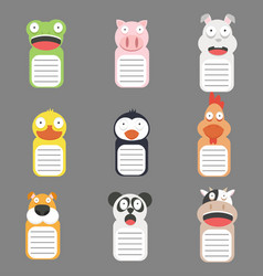 cute animals head banner vector image
