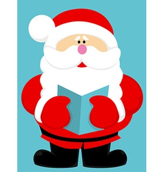 Cute cartoon Santa Claus vector image