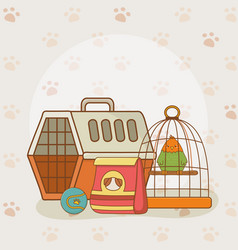 cute little parrot mascot vector image