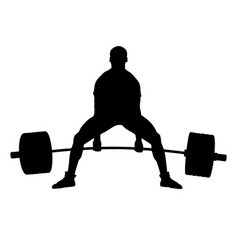 Deadlift powerlifting competition athlete vector