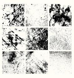 distress textures set vector image