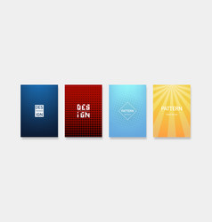 dynamic colorful gradients minimal modern cover vector image