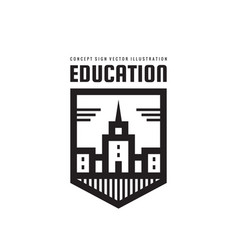 education building - logo template concept vector image