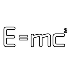 Emc squared energy formula physical law sign vector