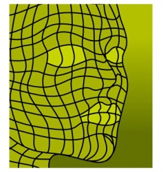 face in green vector image vector image