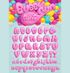 Font bubble gum vector