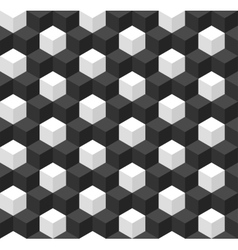 Geometric seamless background with cubes vector image