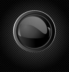 Glossy push button vector