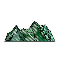 Green mountain natural landscape flora image vector