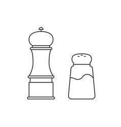 Grinder and shaker for salt pepper vector