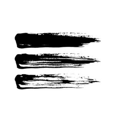 Grunge paint brush stroke set vector