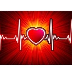 Heart beating monitor vector image