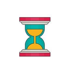 hourglass flat vector image