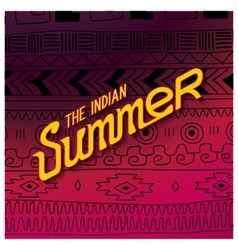 Indian summer season vector image