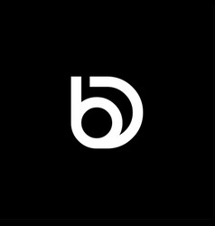 initial letter b and d creative design logo in vector image