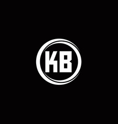 Kb logo initial letter monogram with circle slice vector