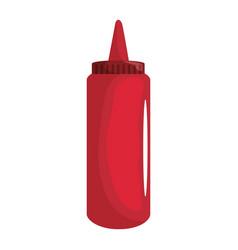Ketchup plastic bottle vector