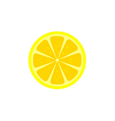 Lemon slice icon vector