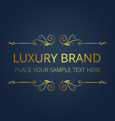 luxury brand gold text wing design image vector image