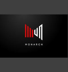 M logo m letter icon design vector