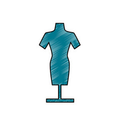 Manikin model clothes vector