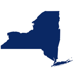 Map new york in blue colour vector