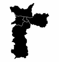 map sao paulo city vector image