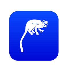 Marmoset monkey icon digital blue vector