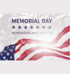 memorial day day us flag in triangular style vector image