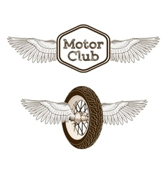Motorcycle club logo emblem vector