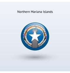 Northern Mariana Islands round flag vector
