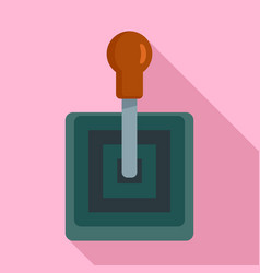 Old gearbox icon flat style vector